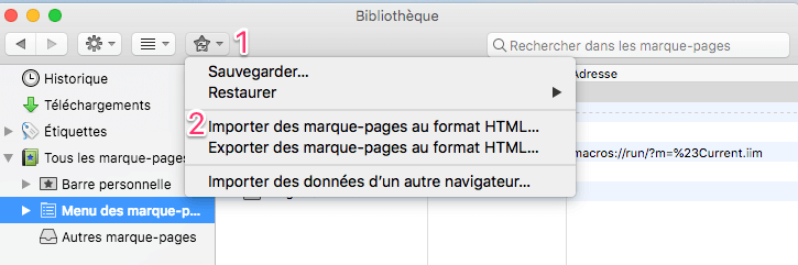 Importer marques-ages Firefox